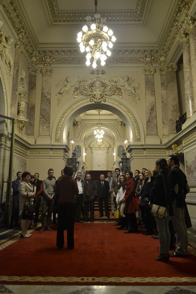 Vizitand Palatul Cotroceni