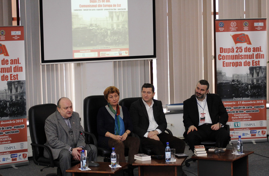 Conf.univ.dr. Sorin Bocancea, Jurnalistul Grigore Cartianu, Prof.univ.dr. Lavina Betea si Prof.univ.dr. Doru Tompea