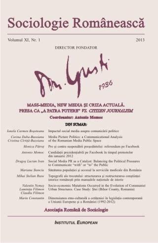Revista Sociologie Romaneasca - Vol XI, nr 1, 2013 - Mass-media, new media si criza actuala