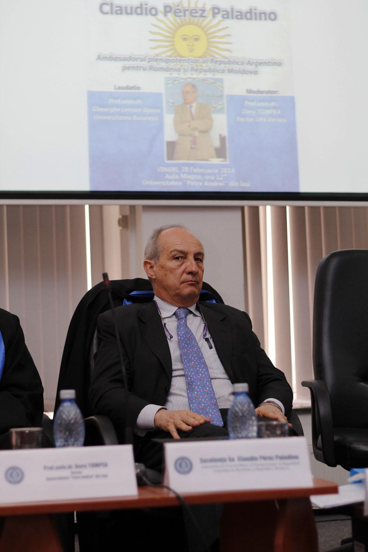 Excelența Sa, Claudio Pérez Paladino, Ambasadorul Extraordinar și Plenipotențiar al Republicii Argentina în România și Republica Moldova