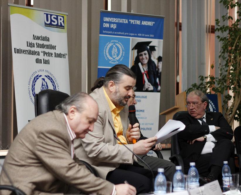 Prof.univ.dr. Doru Tompea, Conf.univ.dr. Sorin Bocancea, Prof.univ.dr. Daniel Condurache