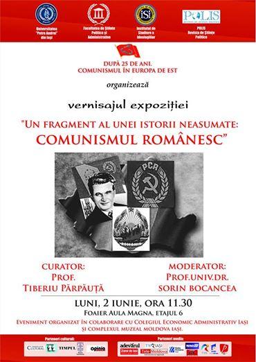 Afișul Vernisajului expoziției_Un fragment al unei istorii neasumate, comunismul românesc