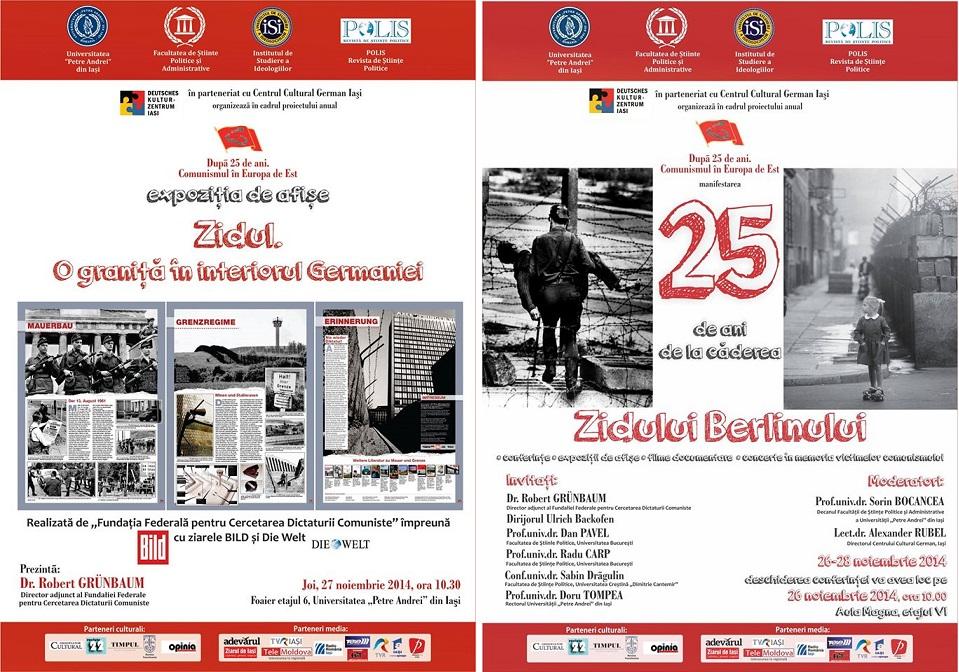 25 de ani de la căderea Zidului Berlinului, marcați la UPA din Iași