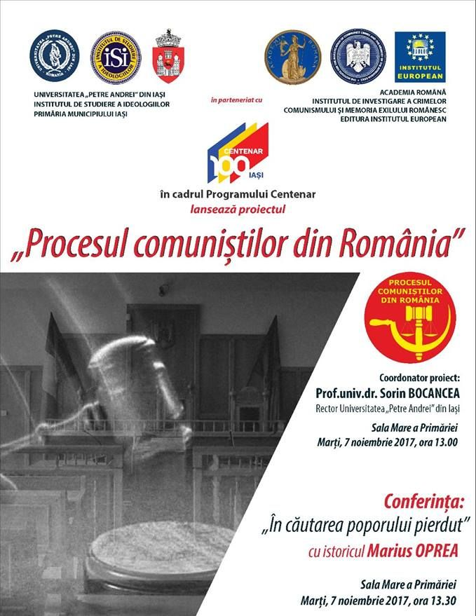"""Lansarea proiectului """"Procesul comuniștilor din România"""""""