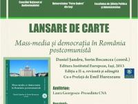 afisul-lansarii-la-bucuresti-a-cartii-mass-media-si-democratia-in-romania-postcomunista-danil-sandru-sorin-bocancea-coord