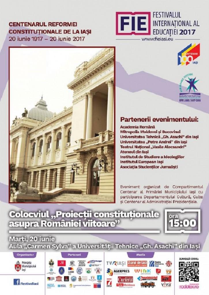 """Colocviul """"Proiecții constituționale asupra României viitoare"""""""